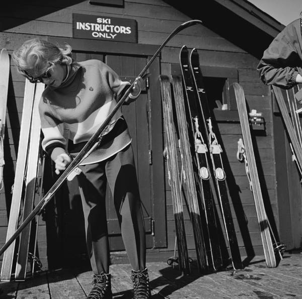 Sport Photograph - New England Skiing by Slim Aarons