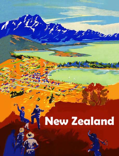 Wall Art - Digital Art - New Zealand by Long Shot