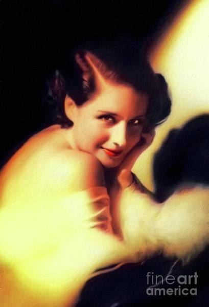 Wall Art - Painting - Norma Shearer, Vintage Actress by John Springfield
