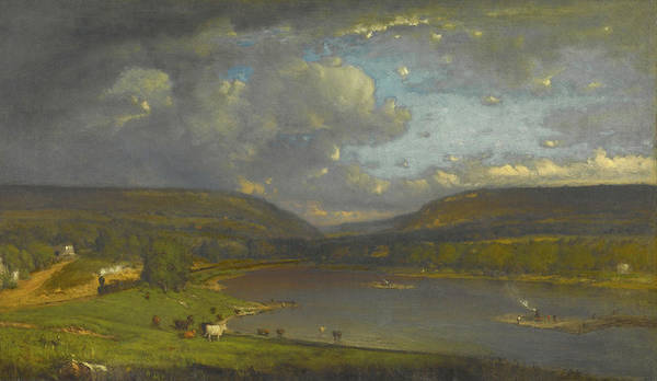 Delaware Painting - On The Delaware River by George Inness