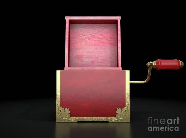 Wall Art - Digital Art - Open Jack-in-the-box Antique by Allan Swart