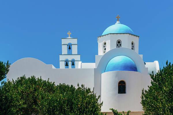 Belgian Culture Photograph - Orthodox Church In Santorini by Deimagine