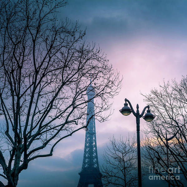 Wall Art - Photograph - Paris  Eiffel Tower At Sunset by Bernard Jaubert