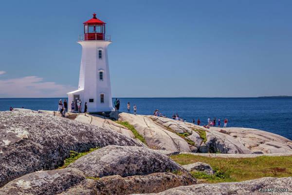 Digital Art - Peggys Cove Lighthouse by Ken Morris