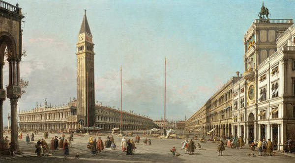 Wall Art - Painting - Piazza San Marco Looking South And West by Canaletto