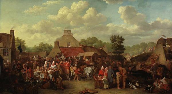 Annual Painting - Pitlessie Fair by David Wilkie