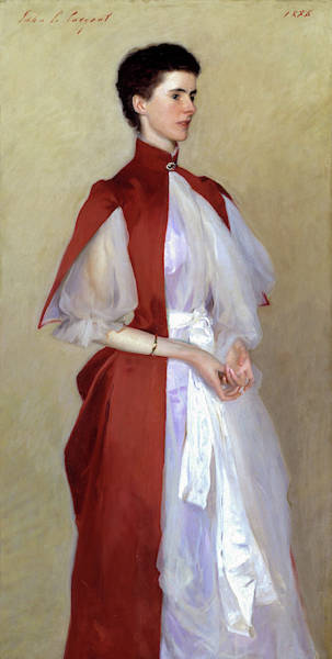 Wall Art - Painting - Portrait Of Mrs. Robert Harrison by John Singer Sargent