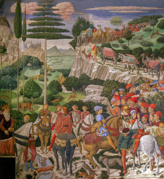 Wall Art - Photograph - Procession Of The Old King, Procession Of The Magi, Benozzo Gozzoli, by Peter Barritt