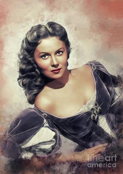 Wall Art - Painting - Rhonda Fleming, Vintage Actress by John Springfield