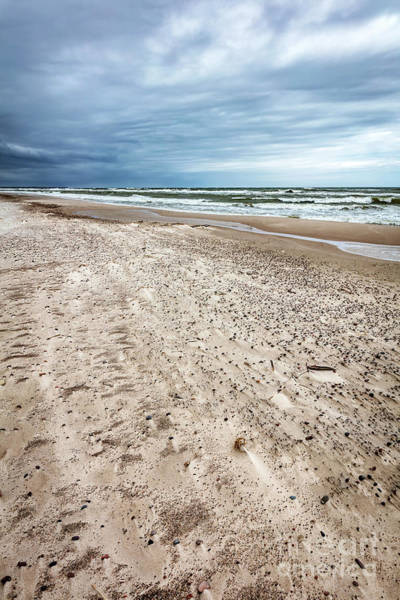 Wall Art - Photograph - Sandy Beach On Stormy Day By The Sea. by Michal Bednarek