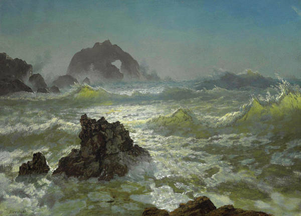Painting - Seal Rock, California by Albert Bierstadt
