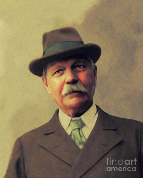 Wall Art - Painting - Sir Arthur Conan Doyle, Literary Legend by John Springfield