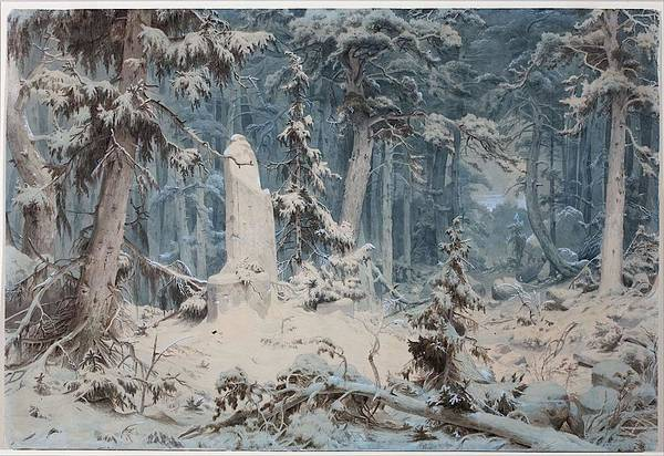 Wall Art - Painting - Snowy Forest  by Andreas Achenbach