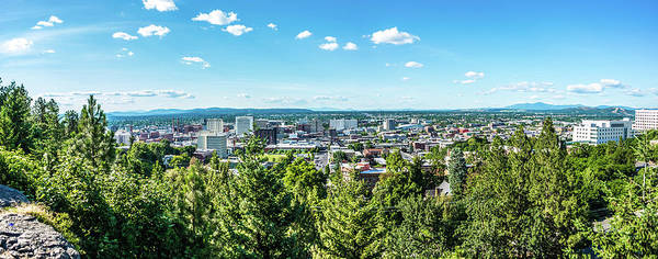 Photograph - Spokane Washington City Skyline And Spokane Valley Views by Alex Grichenko