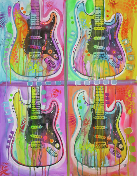 Wall Art - Painting - 4 Strats by Dean Russo Art