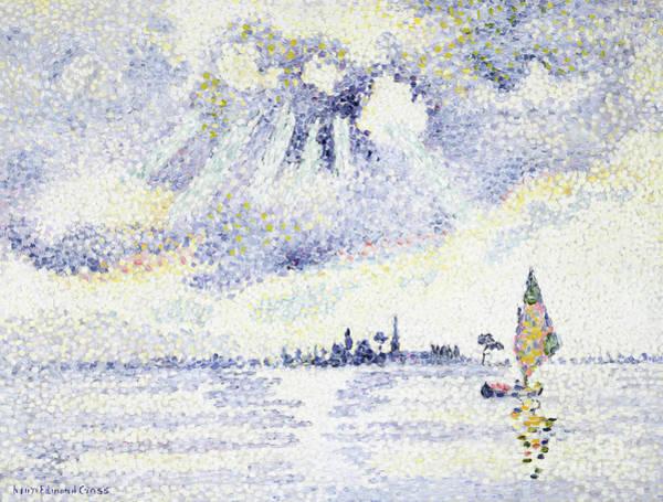 Wall Art - Painting - Sunset On The Lagoon, Venice by Henri-Edmond Cross