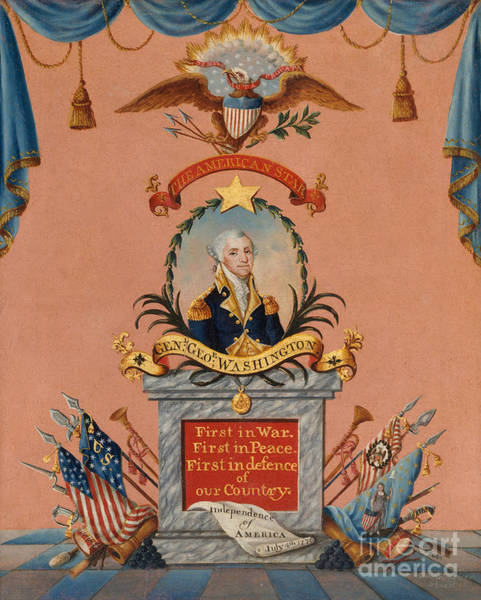 Wall Art - Painting - The American Star  George Washington by Frederick Kemmelmeyer
