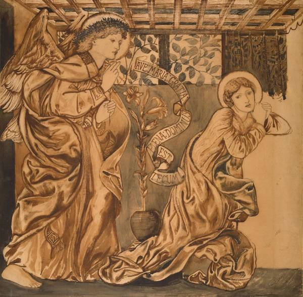 Wall Art - Painting - The Annunciation by Edward Burne-Jones