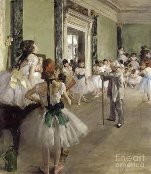 Painting - Degas - The Ballet Class by Edgar Degas