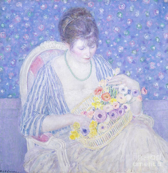 Painting - The Basket Of Flowers by Frederick Carl Frieseke