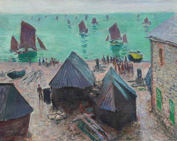 Wall Art - Painting - The Departure Of The Boats, Etretat by Claude Monet