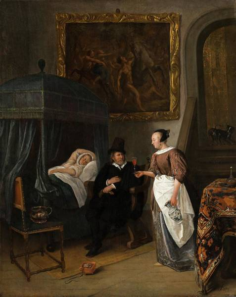 Painting - The Doctor's Visit  by Jan Steen