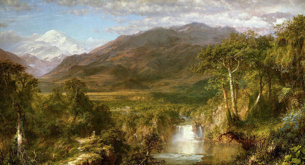 Metaphor Painting - The Heart Of The Andes by Frederic Edwin Church