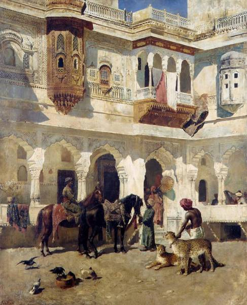 Wall Art - Painting - The Rajah Starting On A Hunt by Edwin Lord Weeks