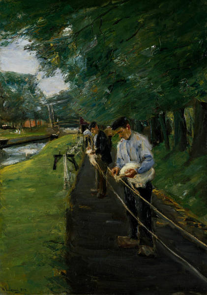 Painting - The Ropewalk In Edam by Max Liebermann