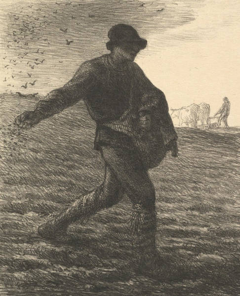 Relief - The Sower by Jean-Francois Millet