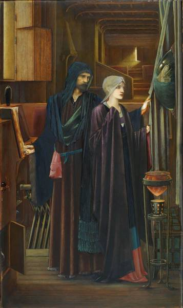 Wall Art - Painting - The Wizard by Edward Burne-Jones