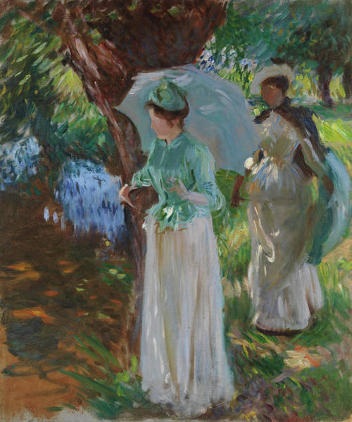 Wall Art - Painting - Two Girls With Parasols by John Singer Sargent