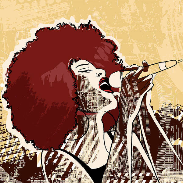 Wall Art - Digital Art - Vector Illustration Of An Afro American by Isaxar