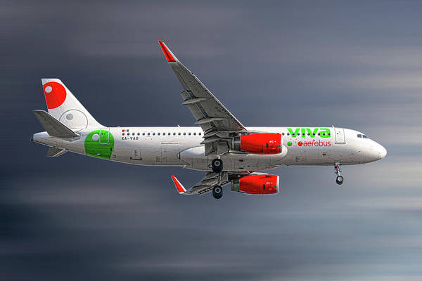 Wall Art - Mixed Media - Vivaaerobus Airbus A320-232 by Smart Aviation