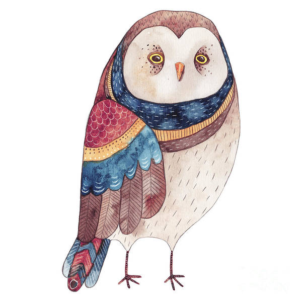Wildlife Digital Art - Watercolor Funny Kids Illustration With by Maria Sem