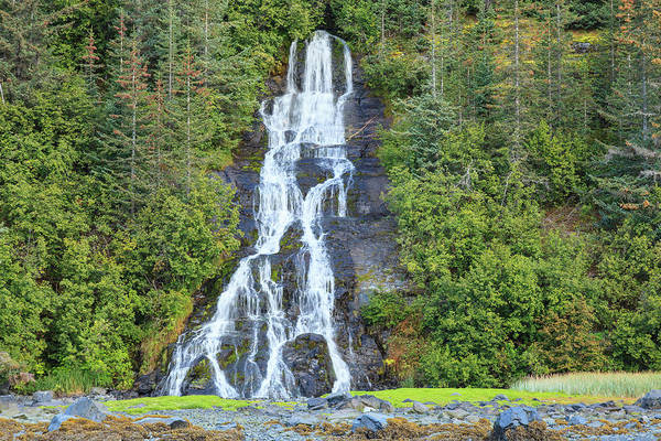 Wall Art - Photograph - Waterfall Near Smith Glacier, College by Stuart Westmorland