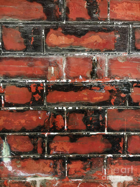 Wall Art - Photograph - Weathered Brick Wall by Tom Gowanlock