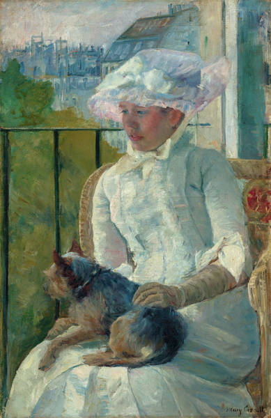 Wall Art - Painting - Young Girl At A Window by Mary Cassatt