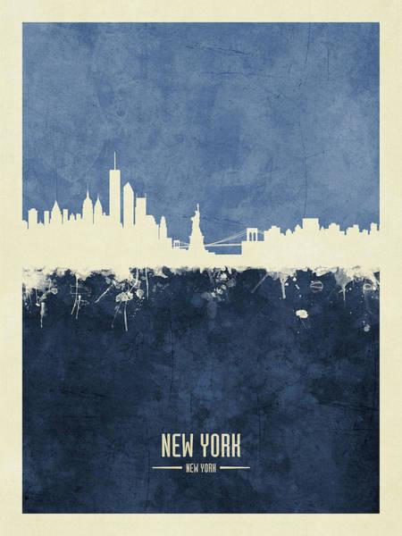New York Skyline Wall Art - Digital Art - New York Skyline by Michael Tompsett