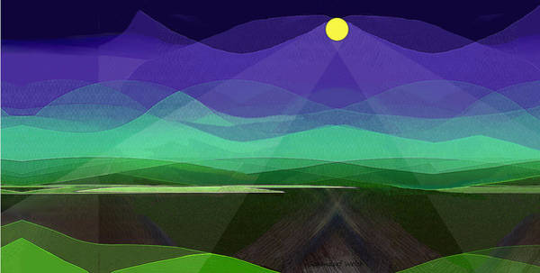 Wall Art - Digital Art - 415 A - Peace In The Valley by Irmgard Schoendorf Welch