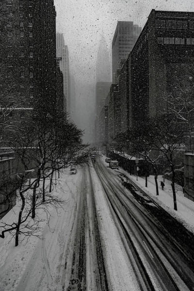 Photograph - 42nd Street Snow Storm by Chris Lord