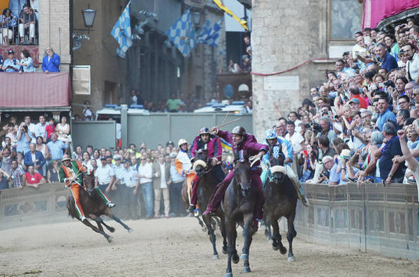 Sport Photograph - Palio Di Siena Horse Race by Ronald C. Modra/sports Imagery