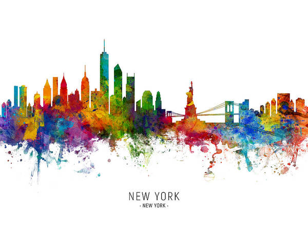 Wall Art - Photograph - New York Skyline by Michael Tompsett