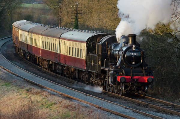 Photograph - 46521 Kinchley Curve by Steam Train