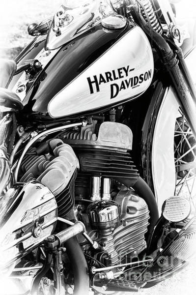 Wall Art - Photograph - 47 Harley Flathead Monochrome by Tim Gainey