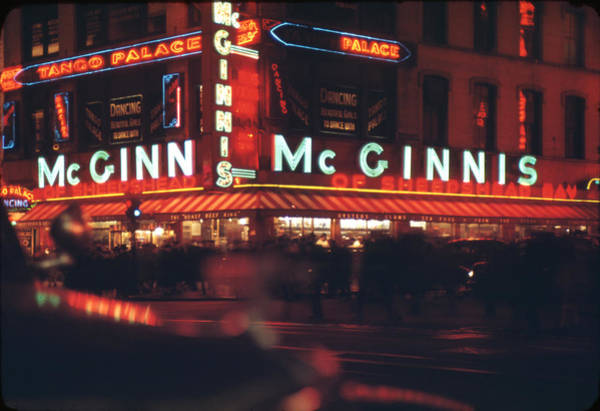 Delicatessen Photograph - 48th And Broadway At Night by Andreas Feininger