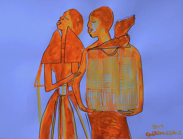 Wall Art - Painting - Kintu And Nambi Kintus Tasks by Gloria Ssali