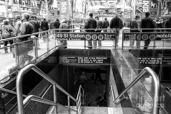 Photograph - 49th Street Subway Station New York City by John Rizzuto