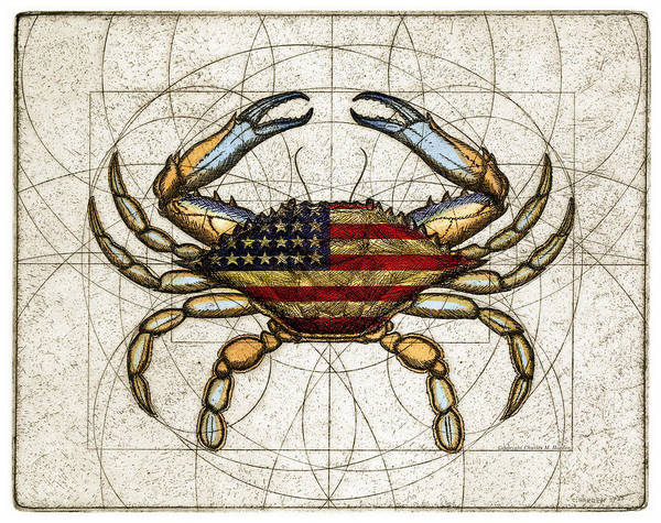 4th Of July Crab Art Print