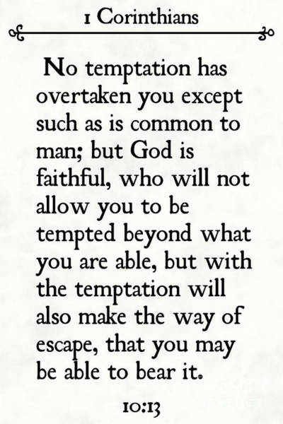 Painting - 1 Corinthians 10 13- Inspirational Quotes Wall Art Collection by Mark Lawrence